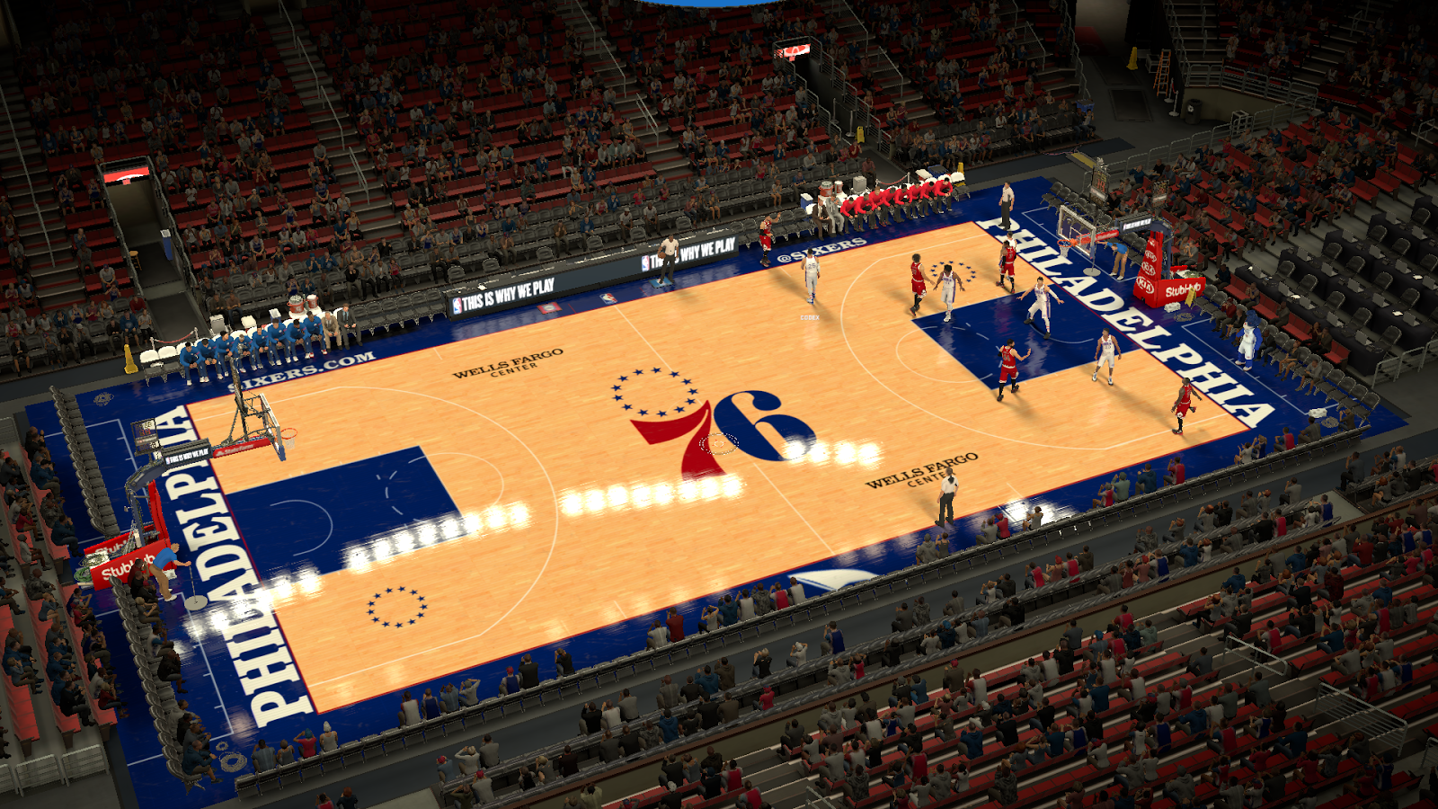 DNA Of Basketball | DNAOBB: NBA 2K17 Philadelphia 76ers Court 2017-2018 by stetep1616
