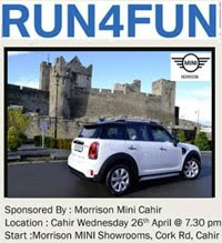 4 mile race in Cahir, Tipperary...Wed 26th Apr 2017