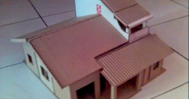 Cara Membuat Miniatur Rumah Dari Kardus Sisa