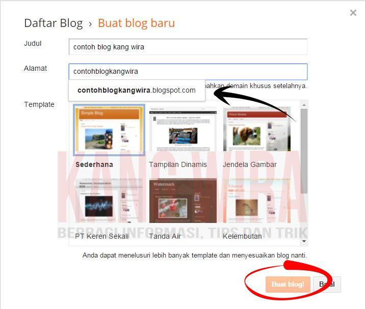 Cara Membuat Blog dari Blogger 7