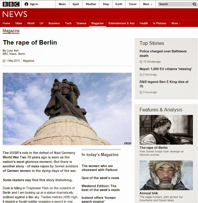 "Screenshot of BBC article ""The Rape of Berlin"""
