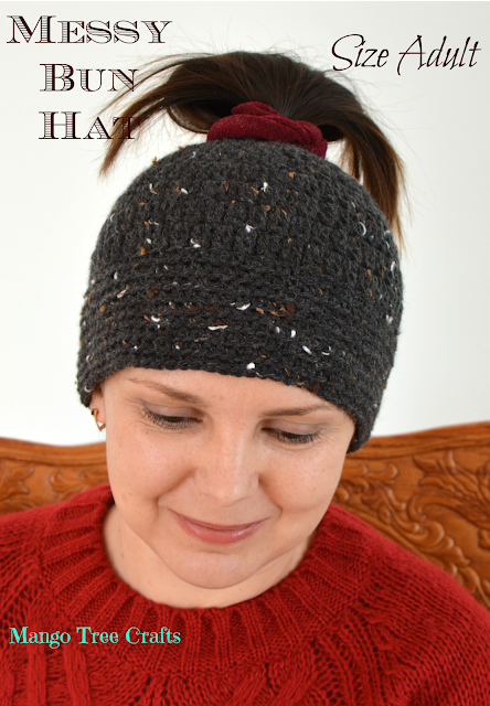 Messy bun Hat pattern