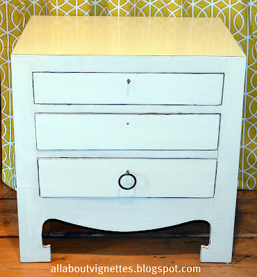 All About Vignettes Modern Chinoiserie Night Stand