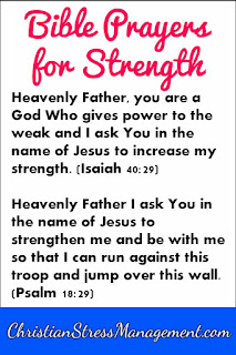 Bible prayers for strength