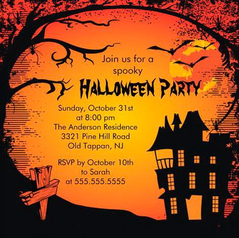 Halloween convites ideias