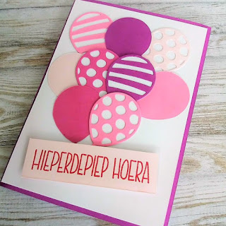 Birthday card with Stampin Up Balloon thinlits