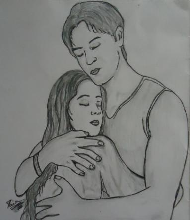 Simple Pencil Sketches Of Love Couple