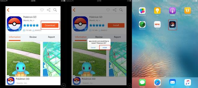 Cara install Pokemon GO di iOS tanpa Apple ID