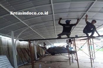 Pemasangan Canopy Di SMA ZAKARIA Bandung