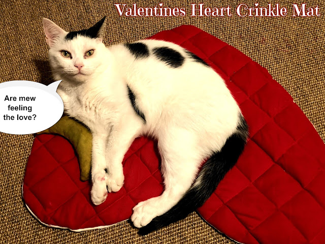 Crafting with Cats at BBHQ ©BionicBasil® Sharing the Valentine's Heart Crinkle Mat from 2018