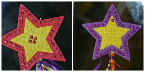 Star glitter wands @ upws and downs smiles and frowns