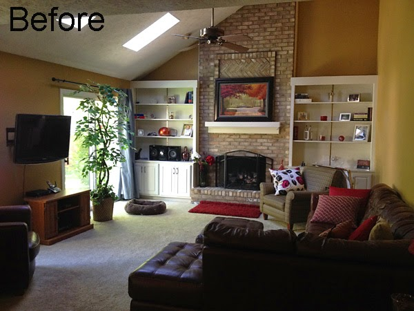Sweet Chaos Home Clients Family Room Makeover More Progress Being
