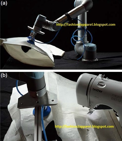 Industrial sewing robot