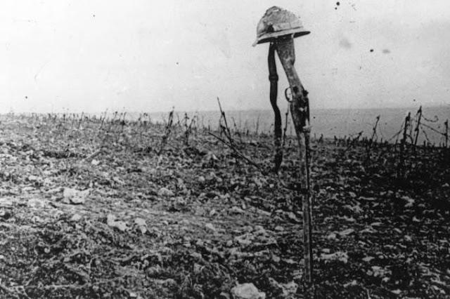 Túmulo de soldado francês morto