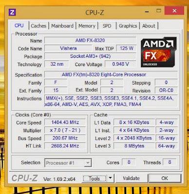 CPU-Z AMD FX 8320 window