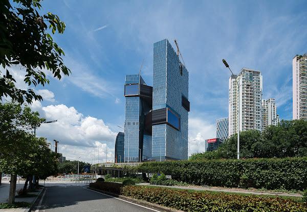 騰訊的新總部,深圳濱海大廈。