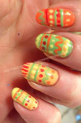 wzorki na paznokcie malowane lakierm