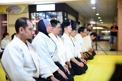 Mokuso atau meditasi dalam Aikido