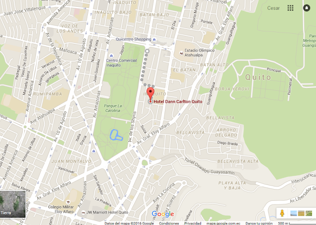 mapa - Hotel en Quito - Hotel Dann Carlton Quito