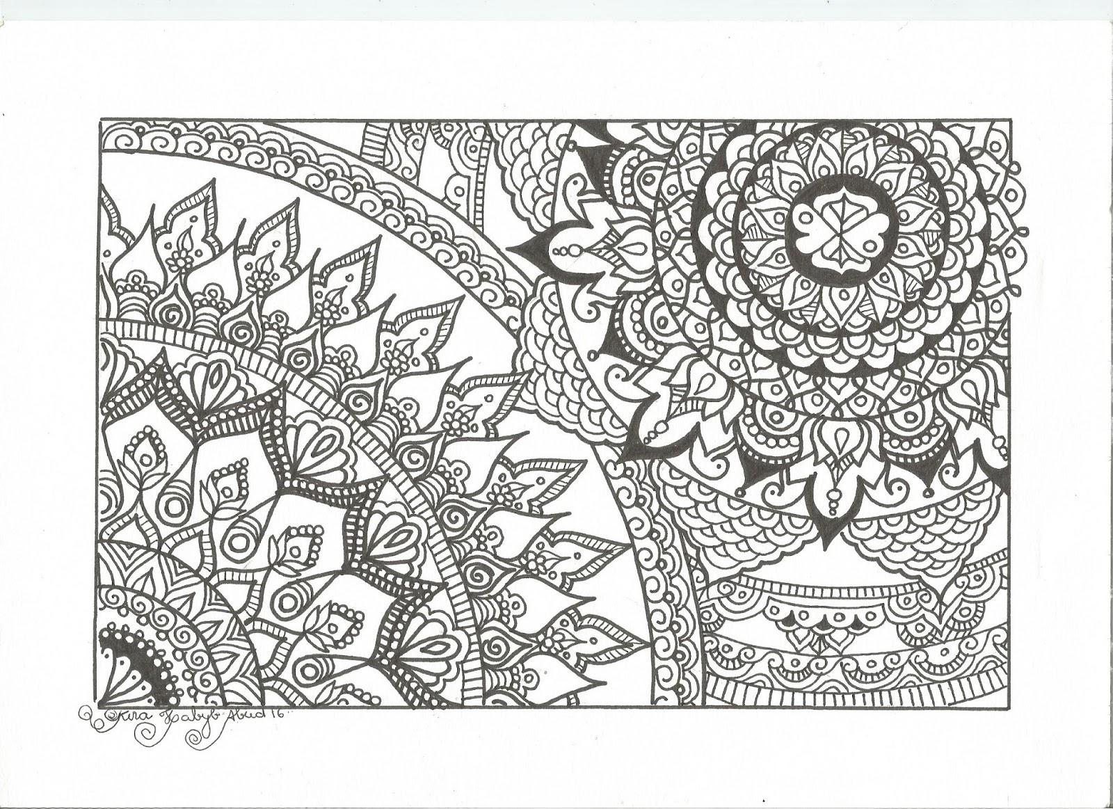 Nova Mandala Para Imprimir FREE E Colorir