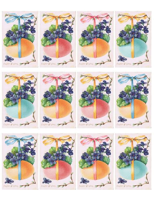 Cartões e Etiquetas imprimíveis para a Páscoa