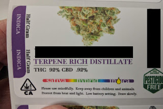 C3500 Printed Cannabis Label