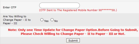 How to Change Paper-2 to Paper-3 in APTET 2018 Application