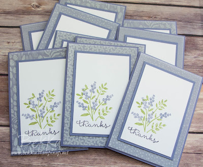 Number Of Years Thank You Cards by Stampin' Up! UK Demo Bekka - check out her blog here
