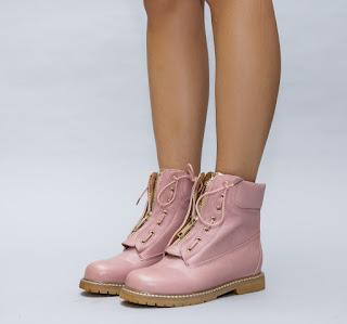 ghete roz de fete ieftine pentru iarna