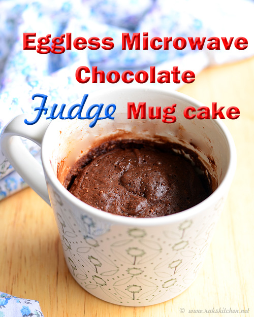 Micrwave Fudge Mug Cake Eggless