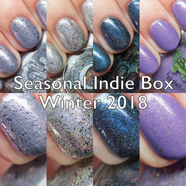 The Polished Hippy: Seasonal Indie Box Winter 2018 Swatches and Review