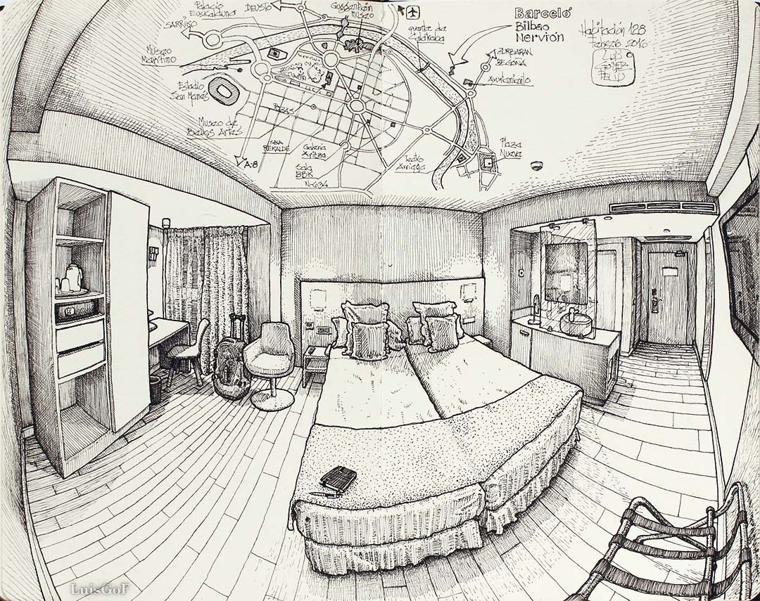 11-Hotel-Barceló-Bilbao-Luis-Gómez-Feliu-Elucubros-Urban-Sketches-and-Interior-Architectural-Drawings-www-designstack-co