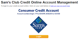 Sam's Club Consumer Credit Online Account Registration