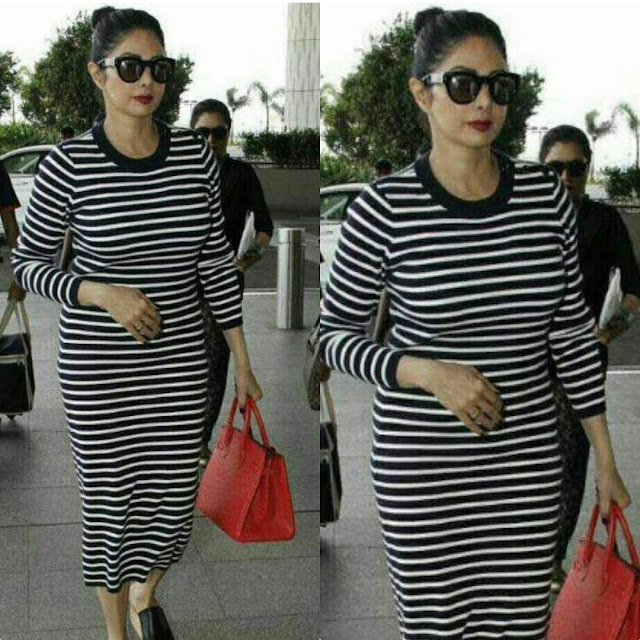 Sridevi Snapped At Airport