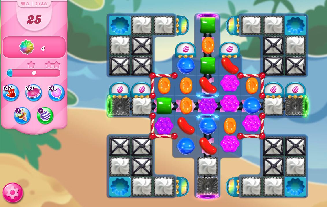 Candy Crush Saga level 7183
