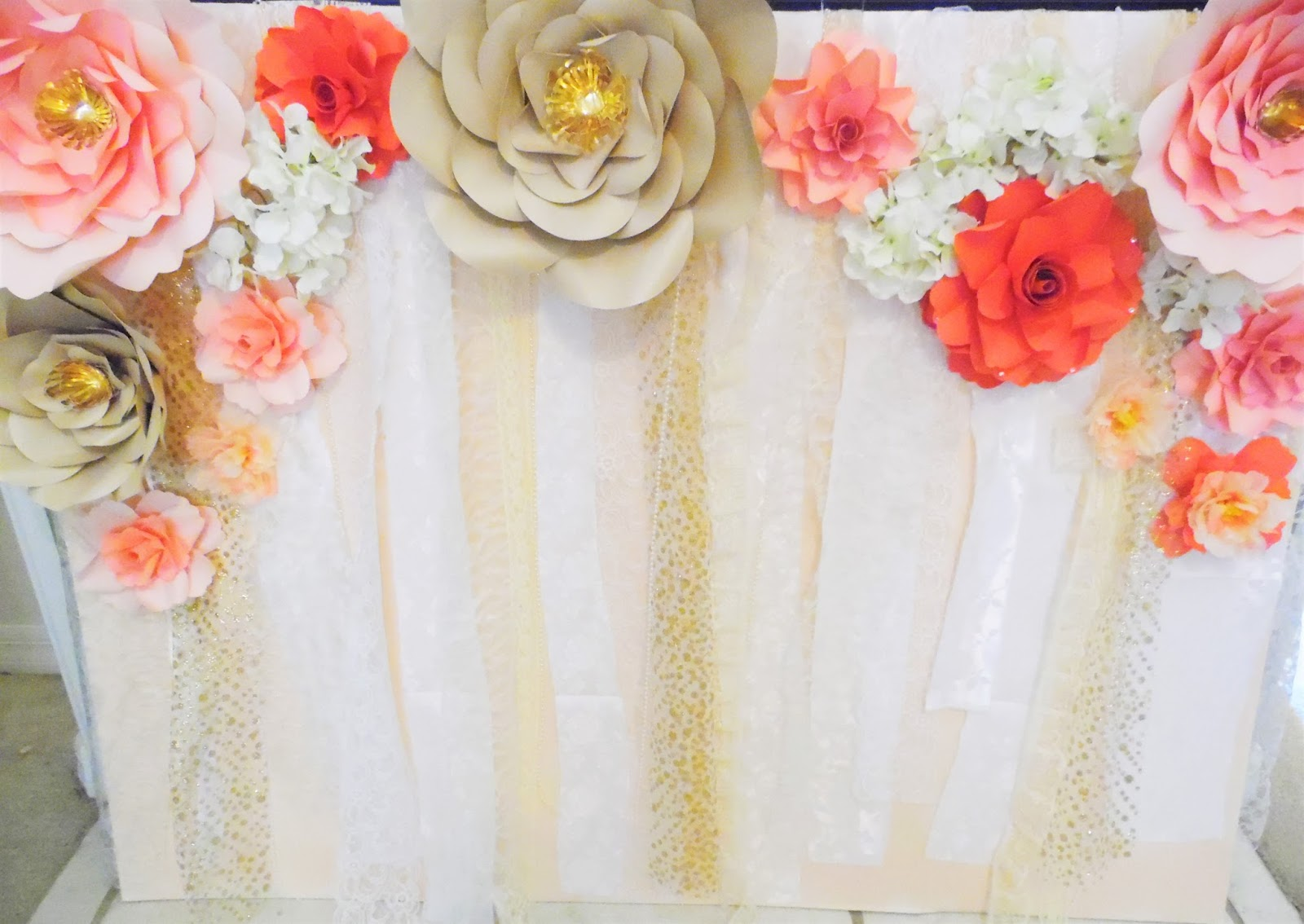 Mamas Gone Crafty Easy Paper Flower Backdrop Assembly