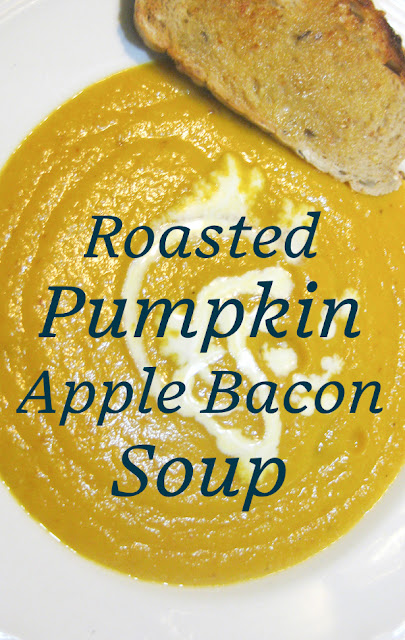 Food Lust People Love: Roasted Pumpkin Apple Bacon Soup. Nothing beats roasted pumpkin soup on a chilly fall day. Add some bacon, ginger and green apple for a warm, bright bowl of goodness your whole family will love.