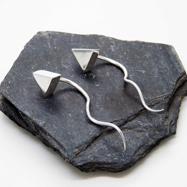 "Dilatadores de plata 2mm ""Triángulos"""