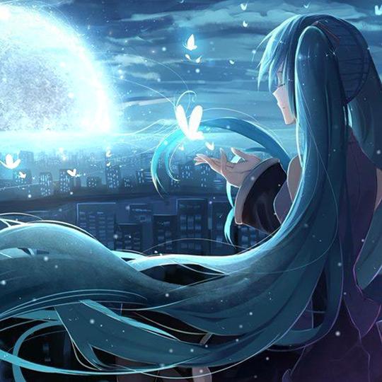 Hatsune Miku Moon Wallpaper Engine