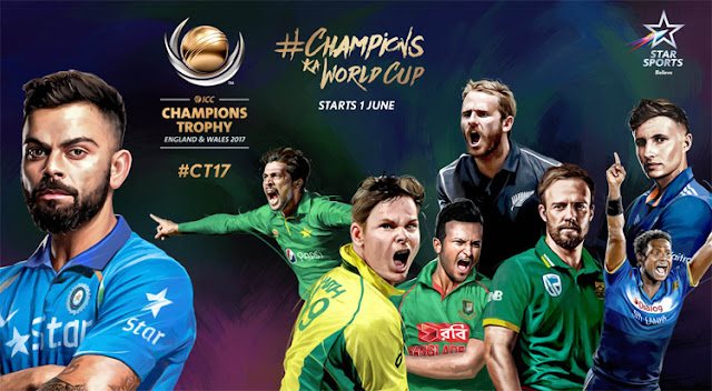 Star Sports Live Streaming ICC Champions Trophy 2017