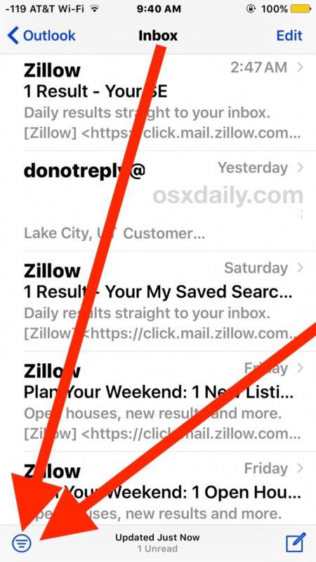 Cara Cepat Menampilkan Semua Email Belum Dibaca Di iPhone iPad