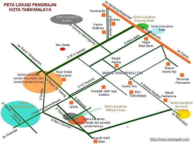 Peta lokasi pengrajin Kota Tasikmalaya