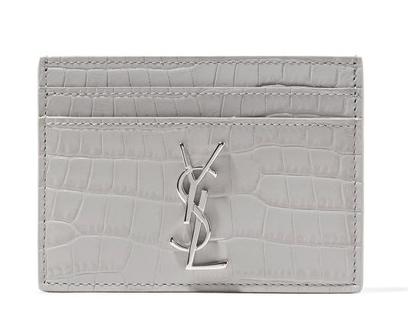 YSL Mock Croc Cardholder