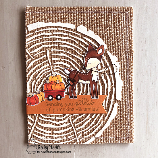 Sending you piles of pumpkins & smiles by Becky features Tree Rings, Newton's Pumpkin Patch, Harvest Tails, and Frames & Flags by Newton's Nook Designs; #newtonsnook