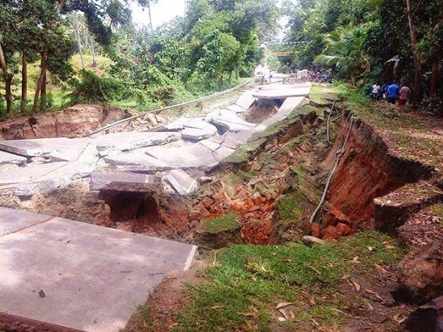 Not passable roads in Getafe, Bohol | Cebu Bohol Earthquake