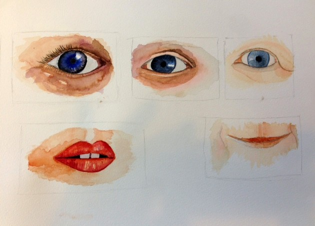 Aquarellista How To Eyes Nose And Mouth In Aquarelle