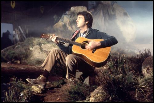 Paul McCartney Filming Mull Of Kintyre Elstree 1977