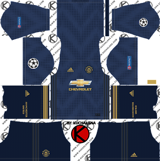 Manchester United 2018/19 UCL Kit - Dream League Soccer Kits