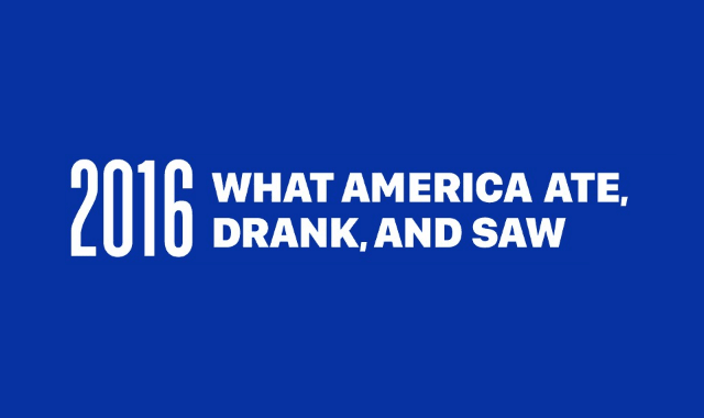 What America Ate Drank And Saw