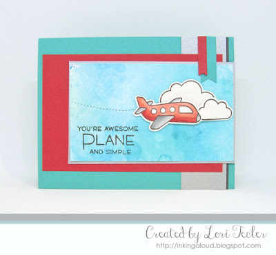 Plane and Simple card-designed by Lori Tecler/Inking Aloud-stamps and dies from Lawn Fawn